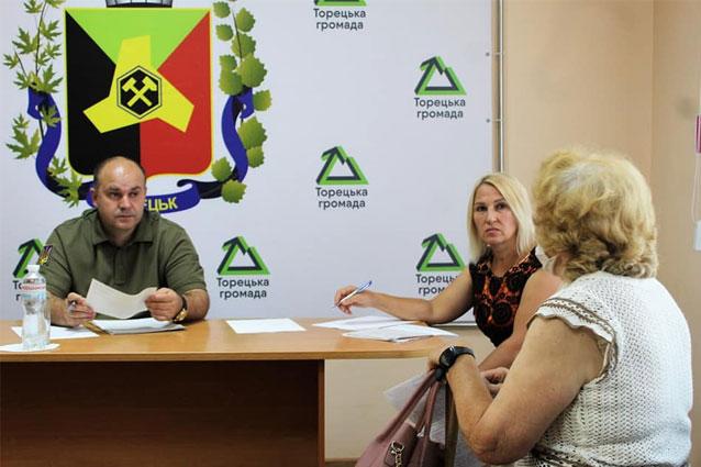 Руководитель Торецкой ВГА провел личный прием граждан