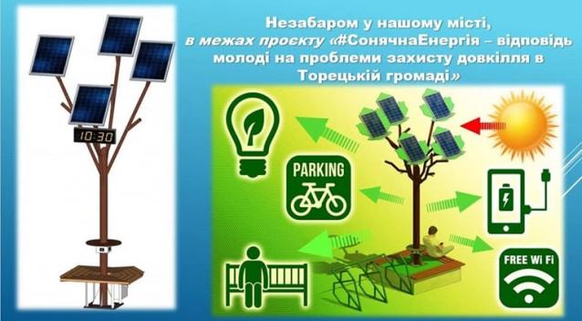 Солнечная Eнергия - ответ на проблемы защиты окружающей среды Торецкой общины