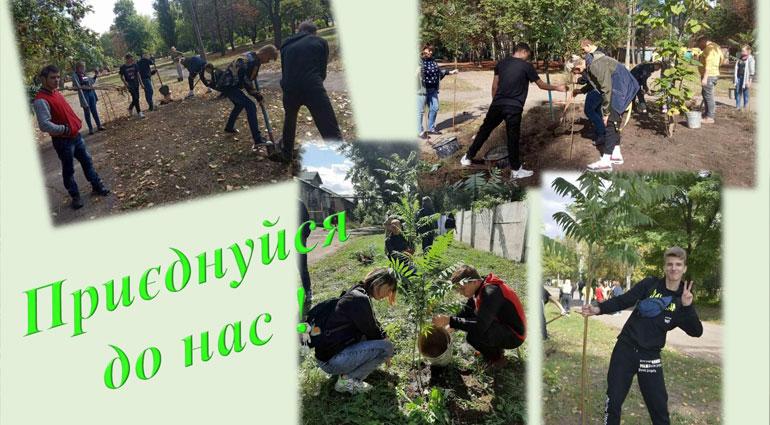Посади дерево сделай город зеленым!