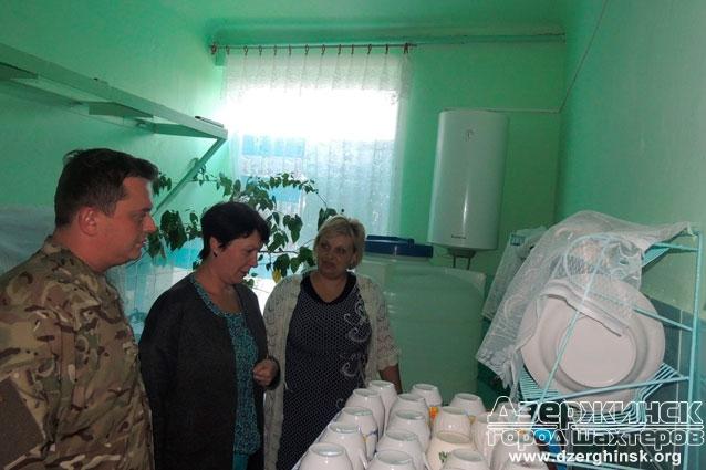 Визит руководителей города к объектам социальной сферы пгт Щербиновка и пгт Новгородское