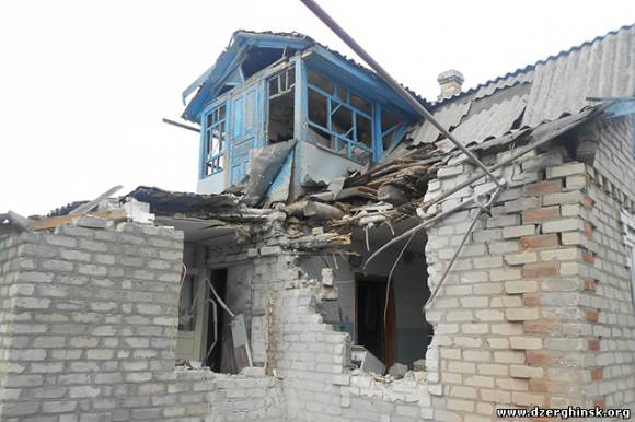 Разрушения на Южной, после обстрела 27.01.15